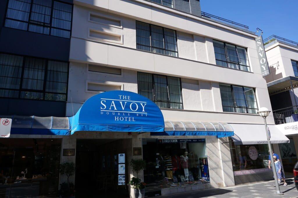 savoy hotel facade