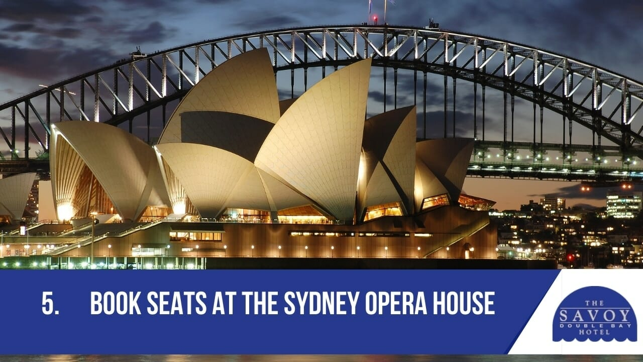 Book seats at the Sydney Opera House