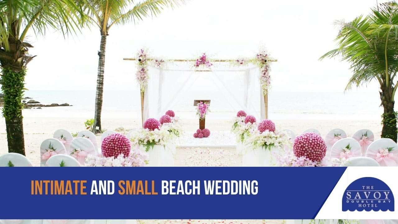 Intimate and small wedding