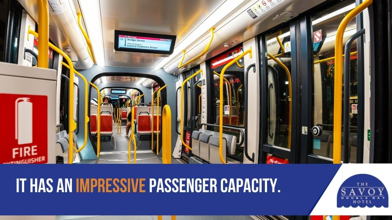 It has an impressive passenger capacity.