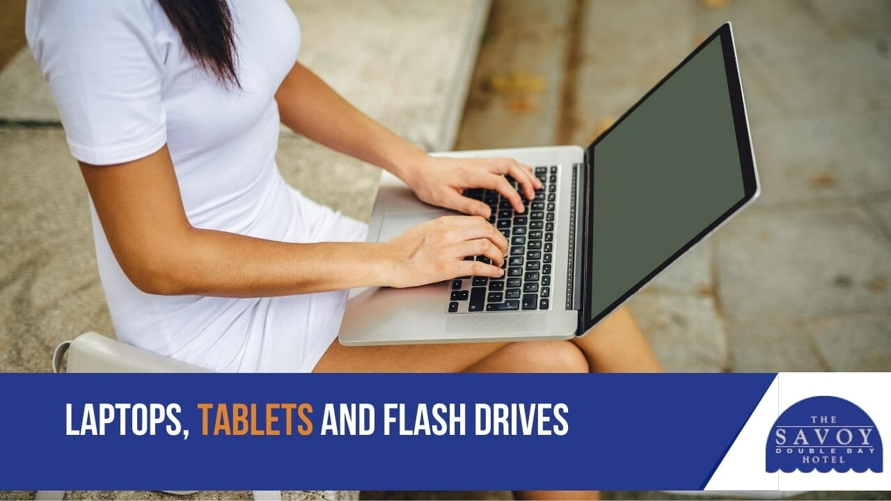 Laptops, tablets and flash drives