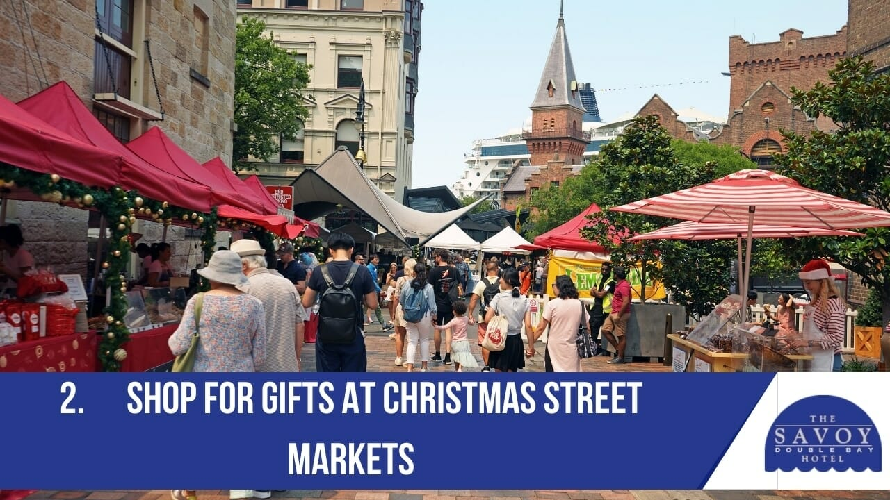 Shop for gifts at Christmas street markets