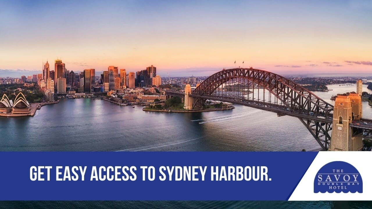 Get easy access to Sydney Harbour.