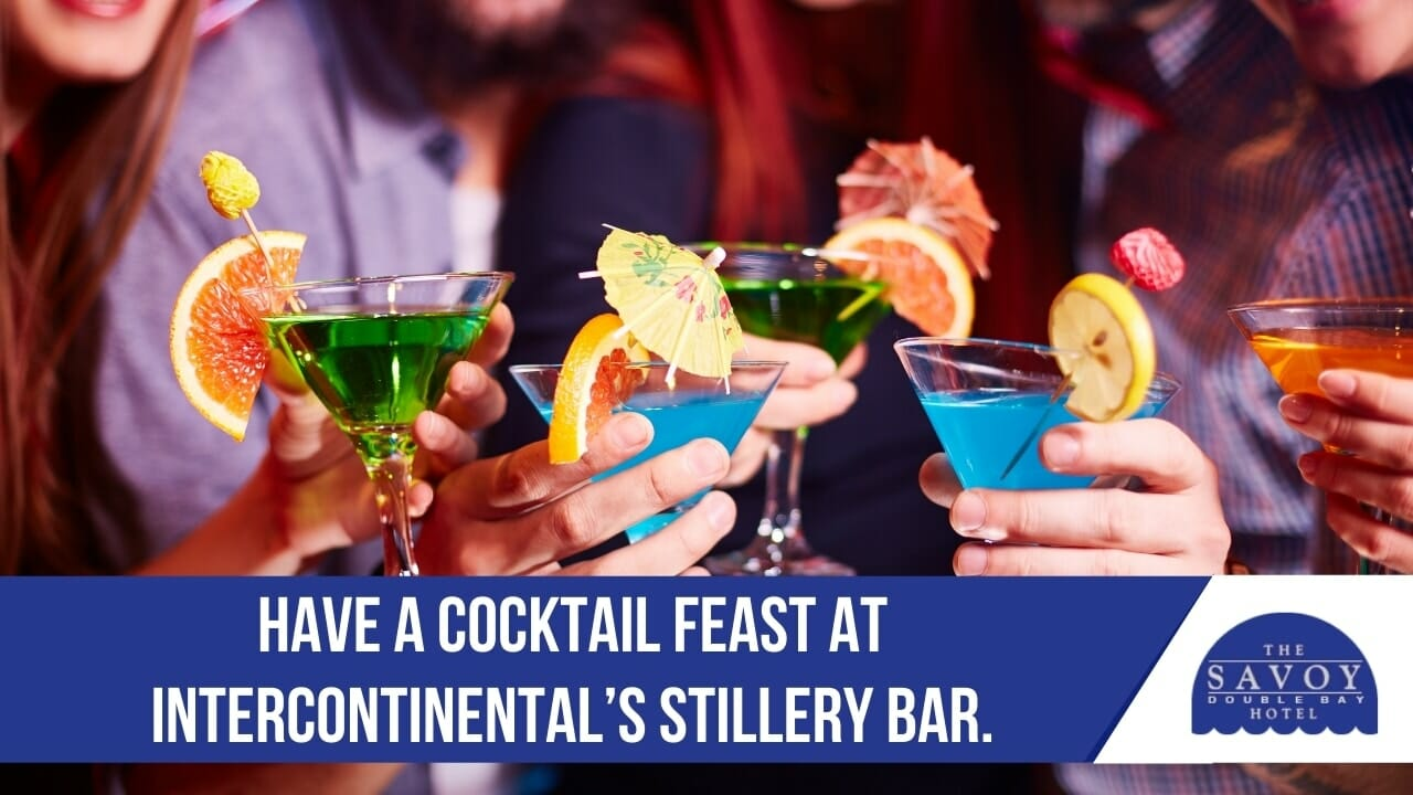 Have a cocktail feast at InterContinental's Stillery Bar.