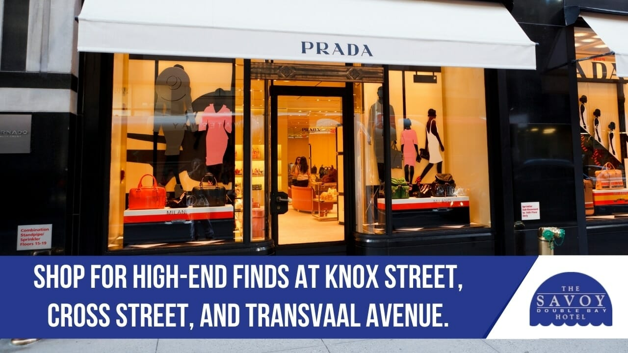 Shop for high-end finds at Knox Street, Cross Street, and Transvaal Avenue.