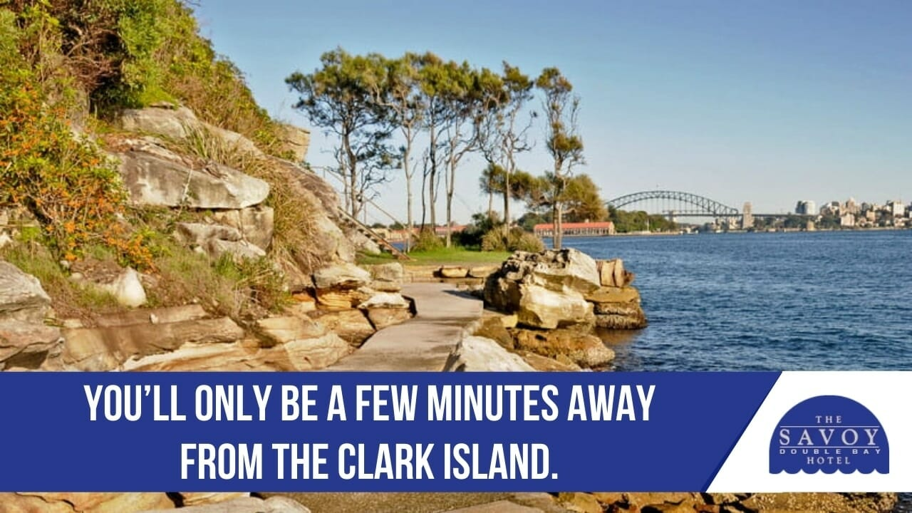 You'll only be a few minutes away from the Clark Island.